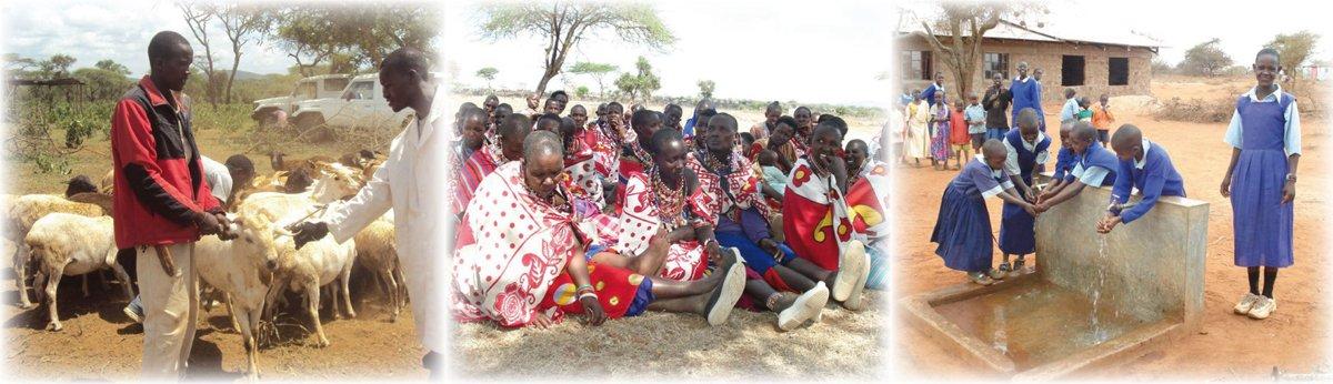 Femmes et hommes Maasaï